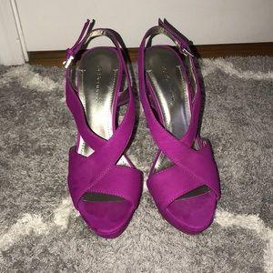 Hot pink/ Fuchsia Platform Stiletto Heel